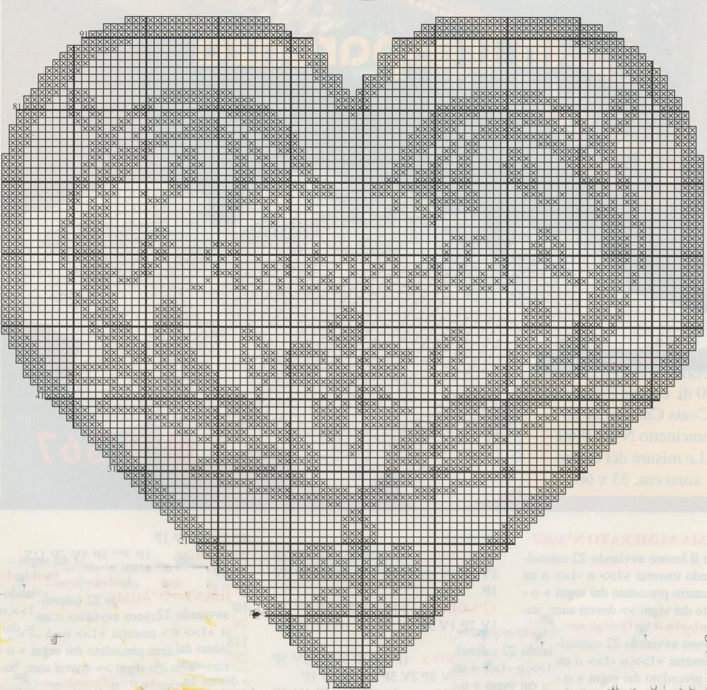 Bien-aimé Nonsolodolciricette: Schemi filet: Un cuore con il suo nome WY92