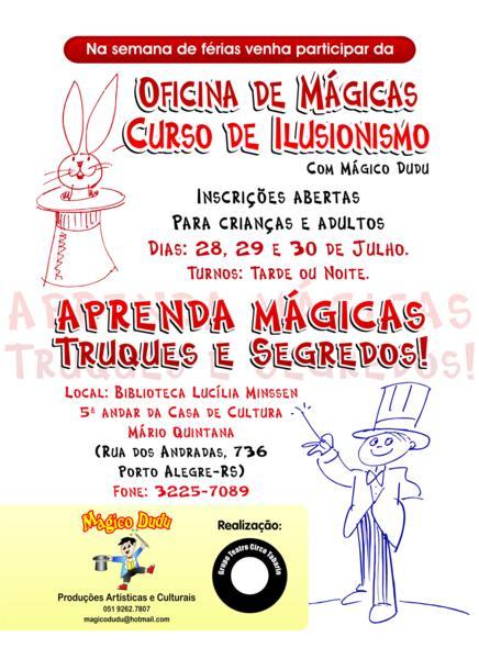 Férias Mágicas -Curso de Ilusionismo e Mágicas para Crianças