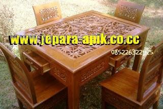 kursi makan minimalis kursi bambu