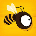 Bee Leader Icon Logo