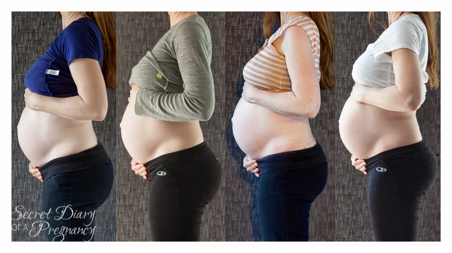 Pregnancy progression series week 31-34