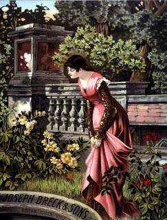 Victorian vintage image lady in garden by Lunagirl