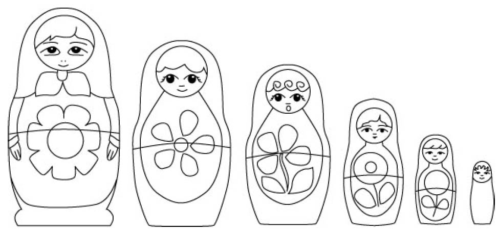 babushka coloring pages - photo#3