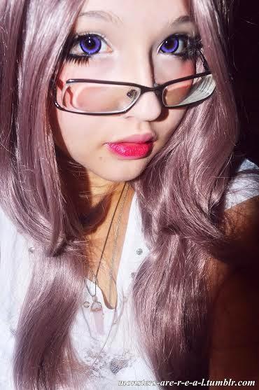 Stunning Violet Eyes: Beuberry MI Violet Circle Lenses