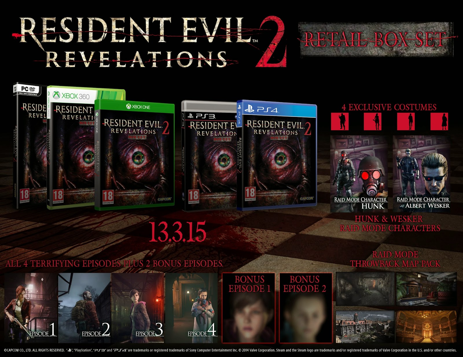 Resident Evil Revelations 2 - riassunto uscite