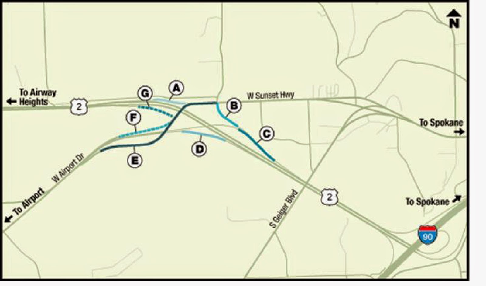 during the following days and hours single lane segments of on and off ramps leading to and from sia on us 2 and sunset hwy will be closed