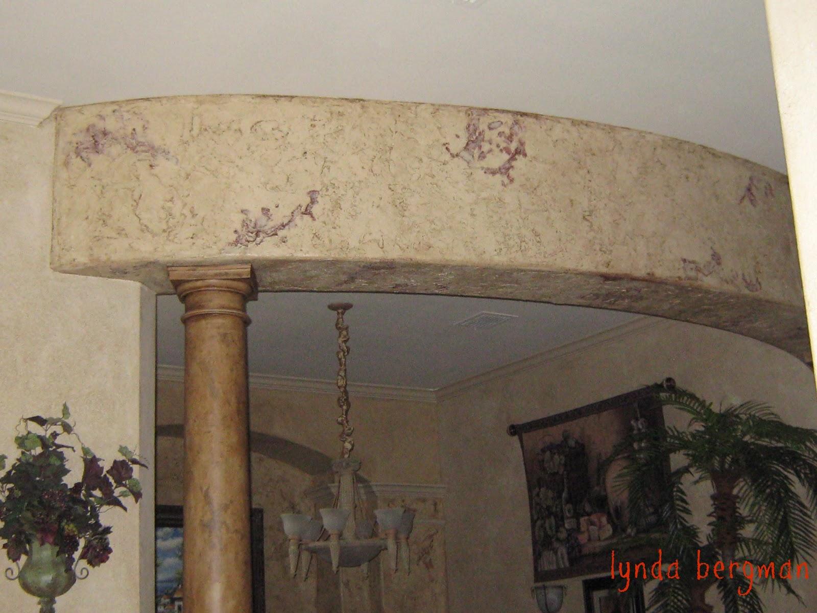 Lynda bergman decorative artisan painting columns mantel from painting columns mantel from white to look like wood old distressed amipublicfo Gallery