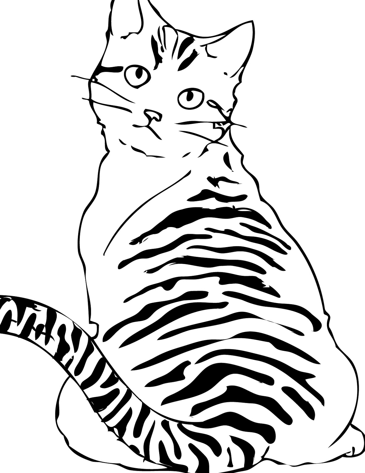 Cats Coloring Pages Printable