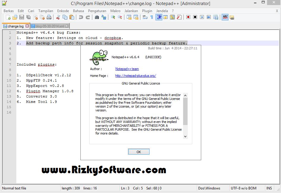 Notepad ++ 6.6.4 Terbaru Update 2014