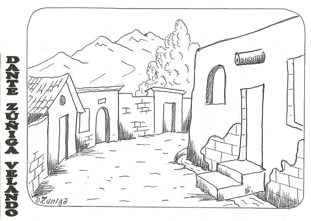 Paisajes para colorear - Fotos de casas para dibujar ...