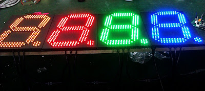 7 segment digital display