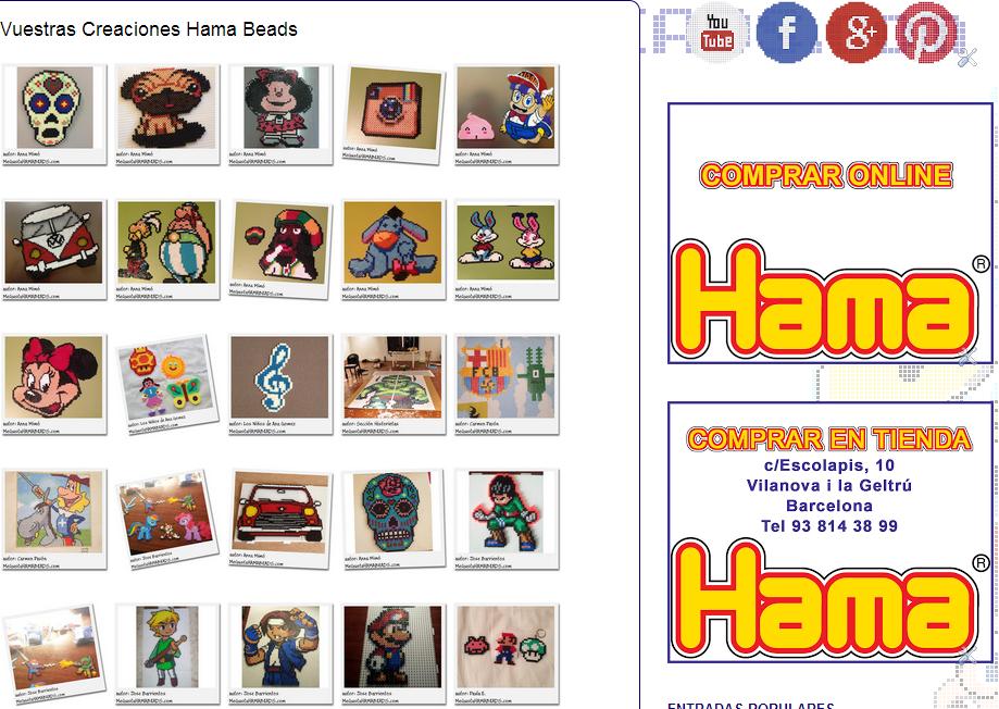 sección vuestras creaciones hama beads