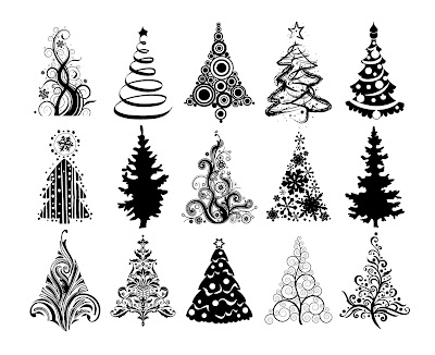 Vector christmas tree collection