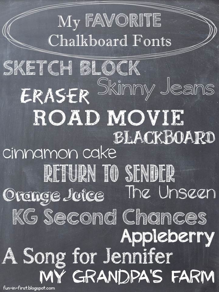 Chalkboard craze fun in first Chalkboard typography