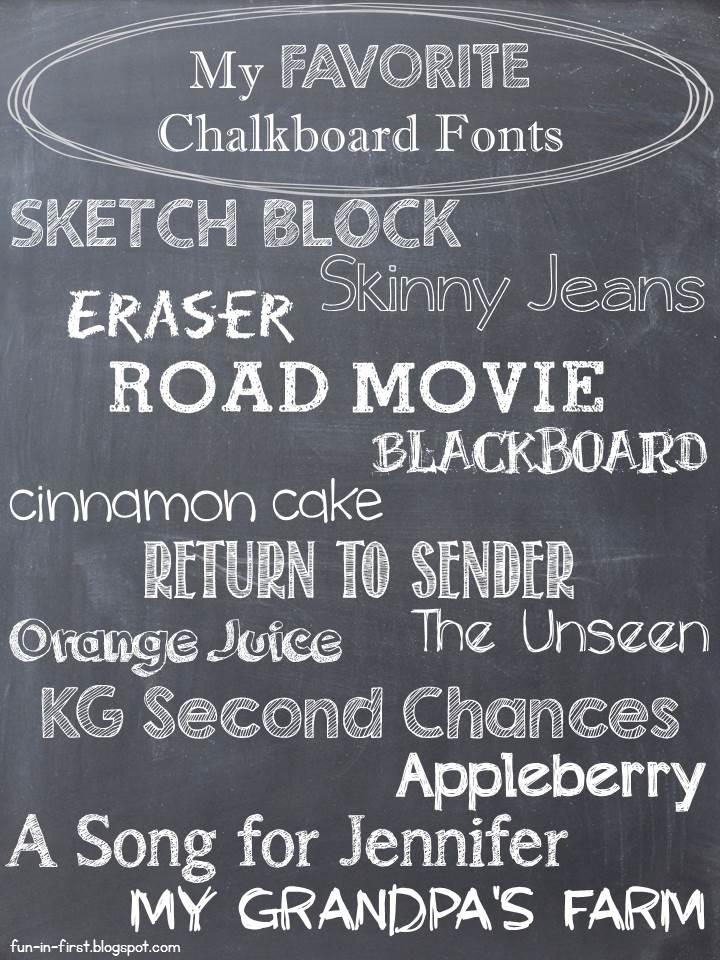 Chalkboard Craze Fun In First: chalkboard typography