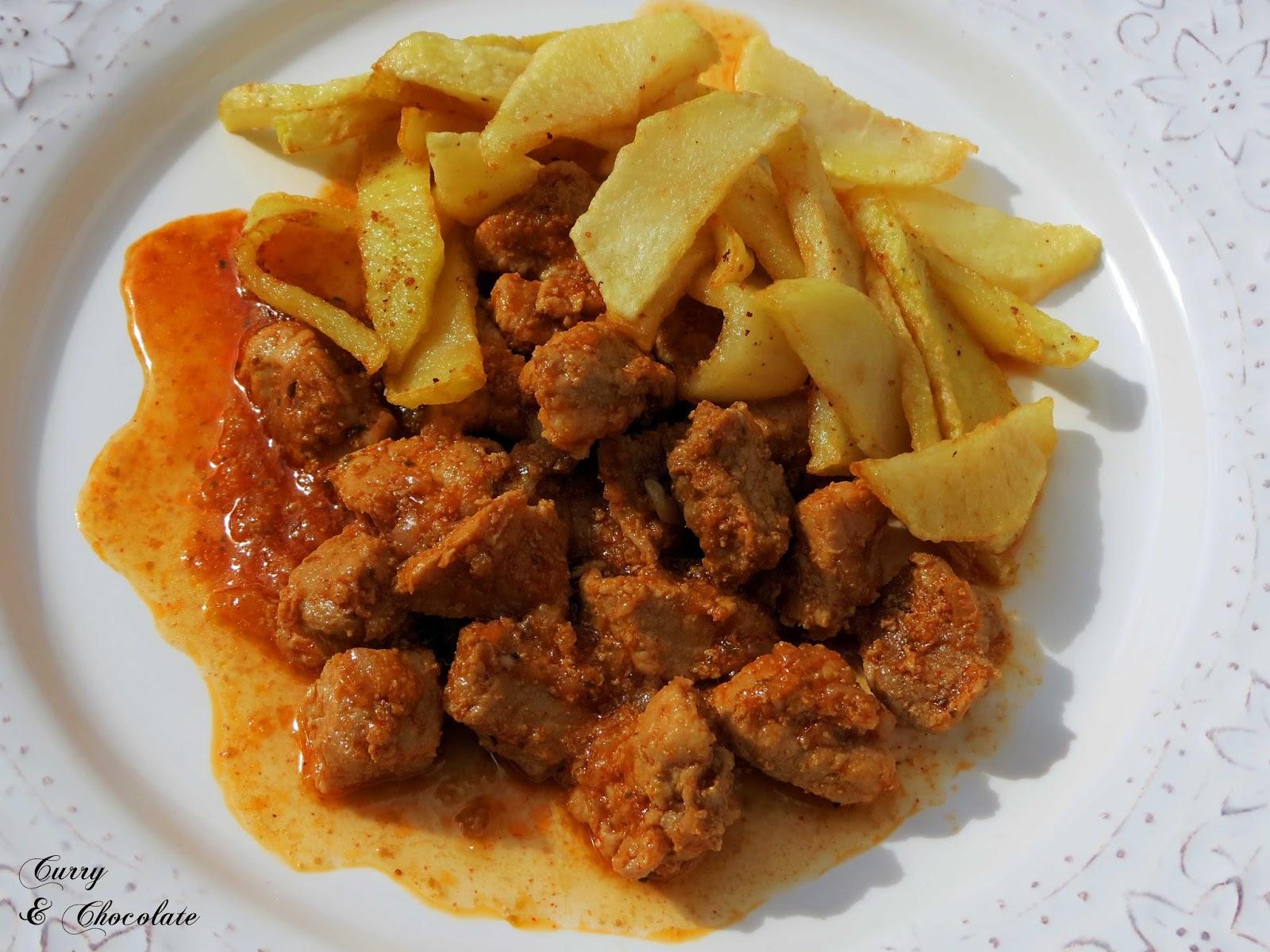 Carne a la taurina (Cerdo con salsa picante) – Pork with spicy sauce