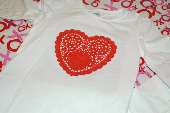 Valentine's Day Heart T-shirt Craft for kids