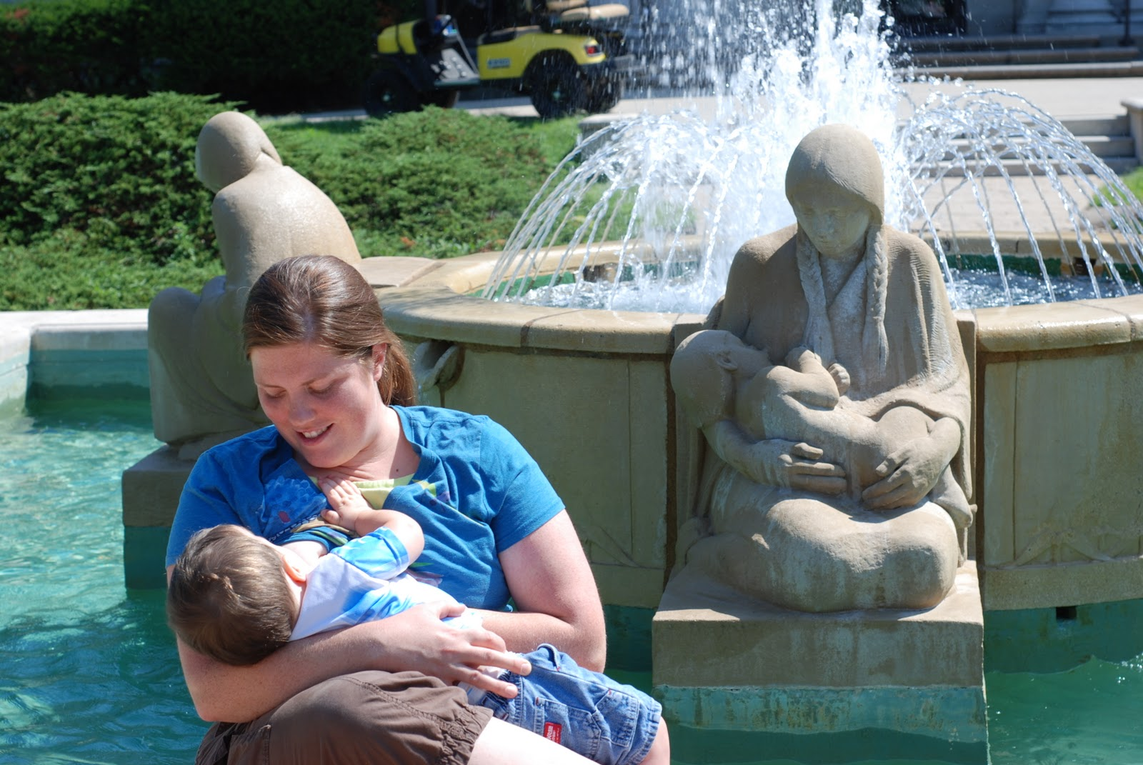 1900 s women nursing babies in public  big city