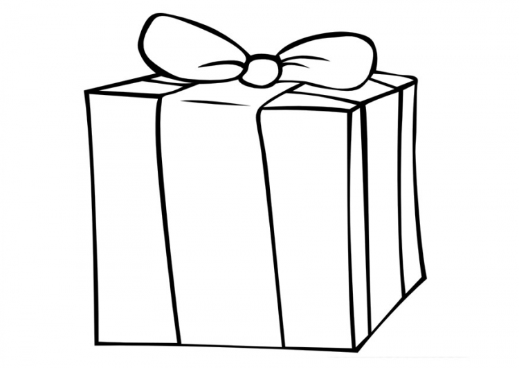Ribbon Gift Boxes Coloring Pages Gifts Coloring Pages