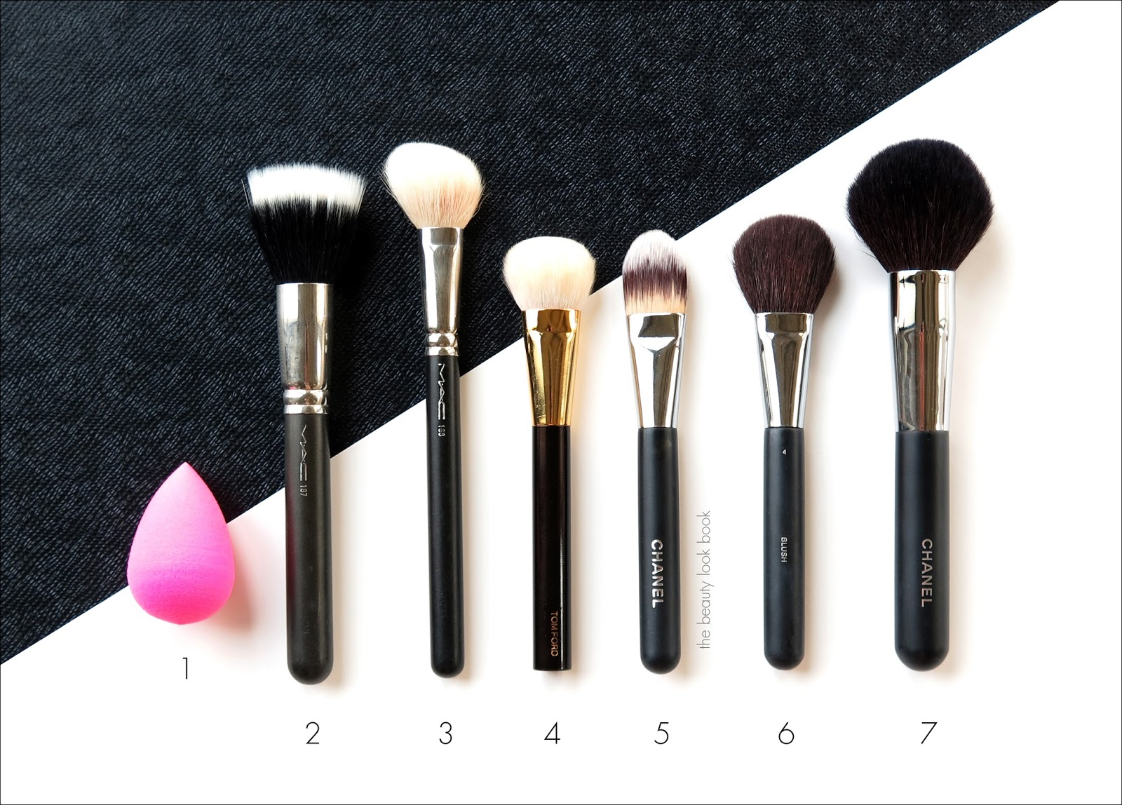 The Beauty Look Book Favorite Makeup Tools For Face Cheeks And Eyes