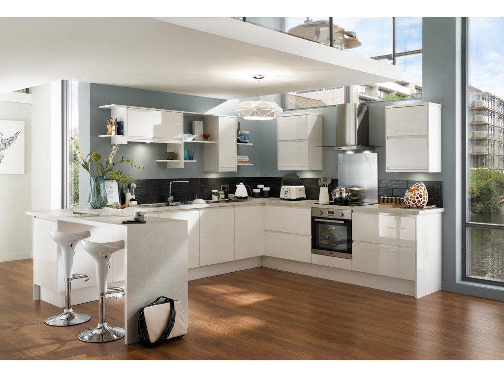Cuisine moderne en u for Belle cuisine design