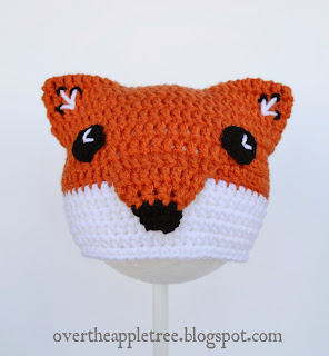 Crochet Children's Fox Hat by Over The Apple Tree