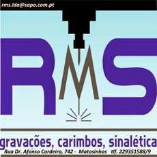 RMS gravações, carimbos, sinalética, placas de homenagem