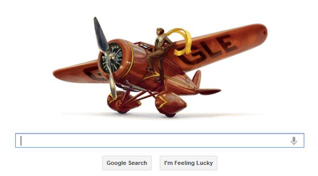 Amelia Earhart Google Doodle Tribute