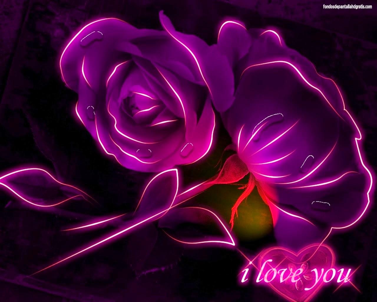 Imágenes de rosas de amor con movimiento y brillo GIF - Imagenes De Amor Y De Rosas Con Brillo Y Movimiento