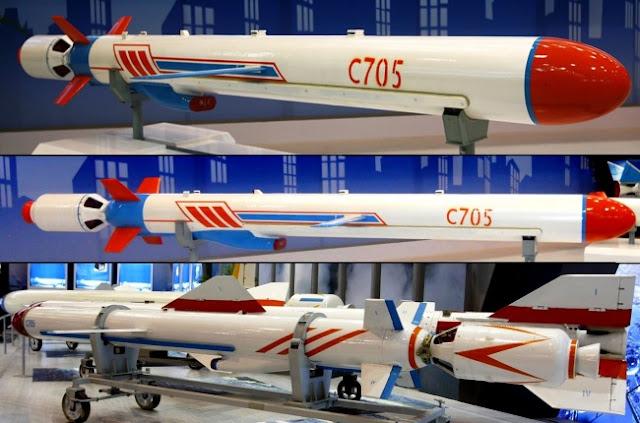 Rudal China C-705 segera dikembangkan dan di produksi di Indonesia