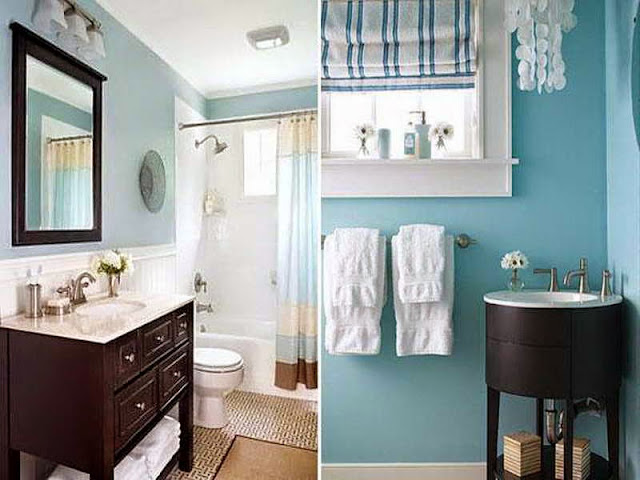 BLUE COLOR BATHROOM