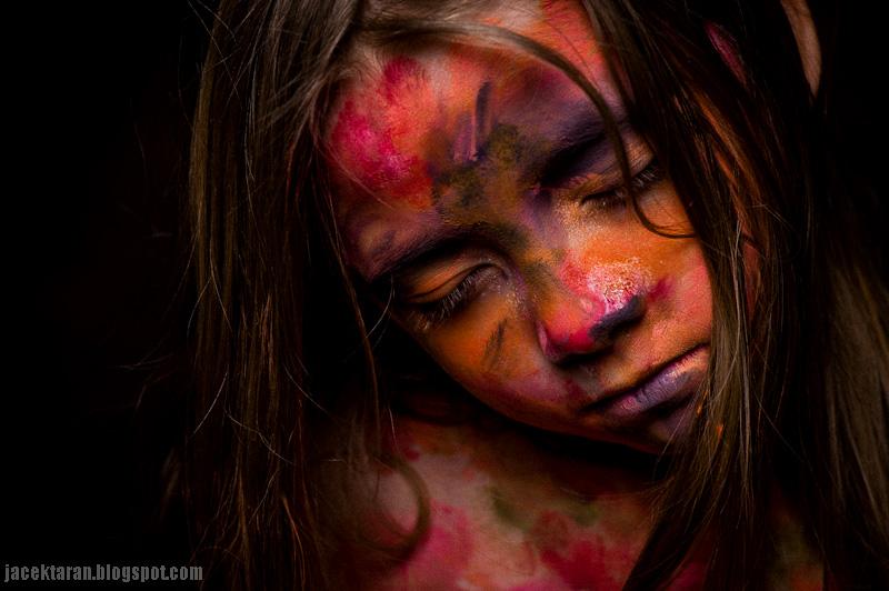 kolorowo, portret dziecka, fotografia artystyczna, bodypainting, fotograf krakow, portret