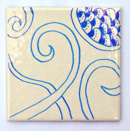 how to make a zen doodle coasters