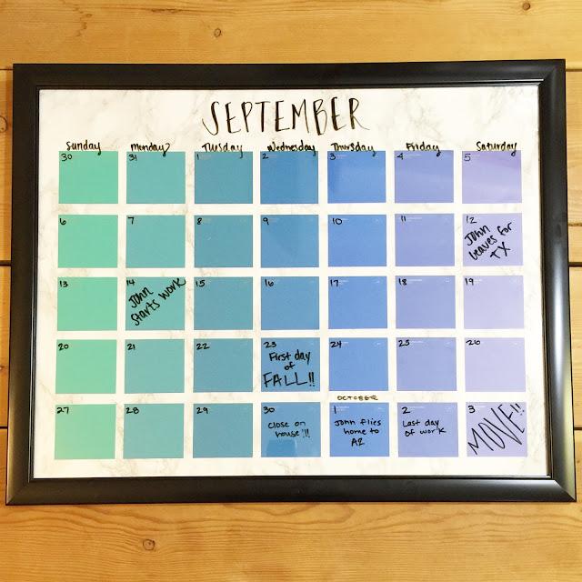 Diy Calendar Paint Chips : Lisa loves john diy paint chip calendar