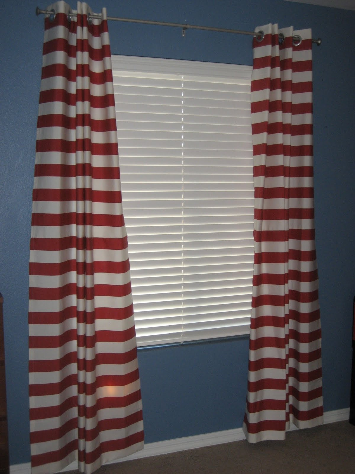 Navy Blue Bedroom Curtains Navy Horizontal Striped Curtains