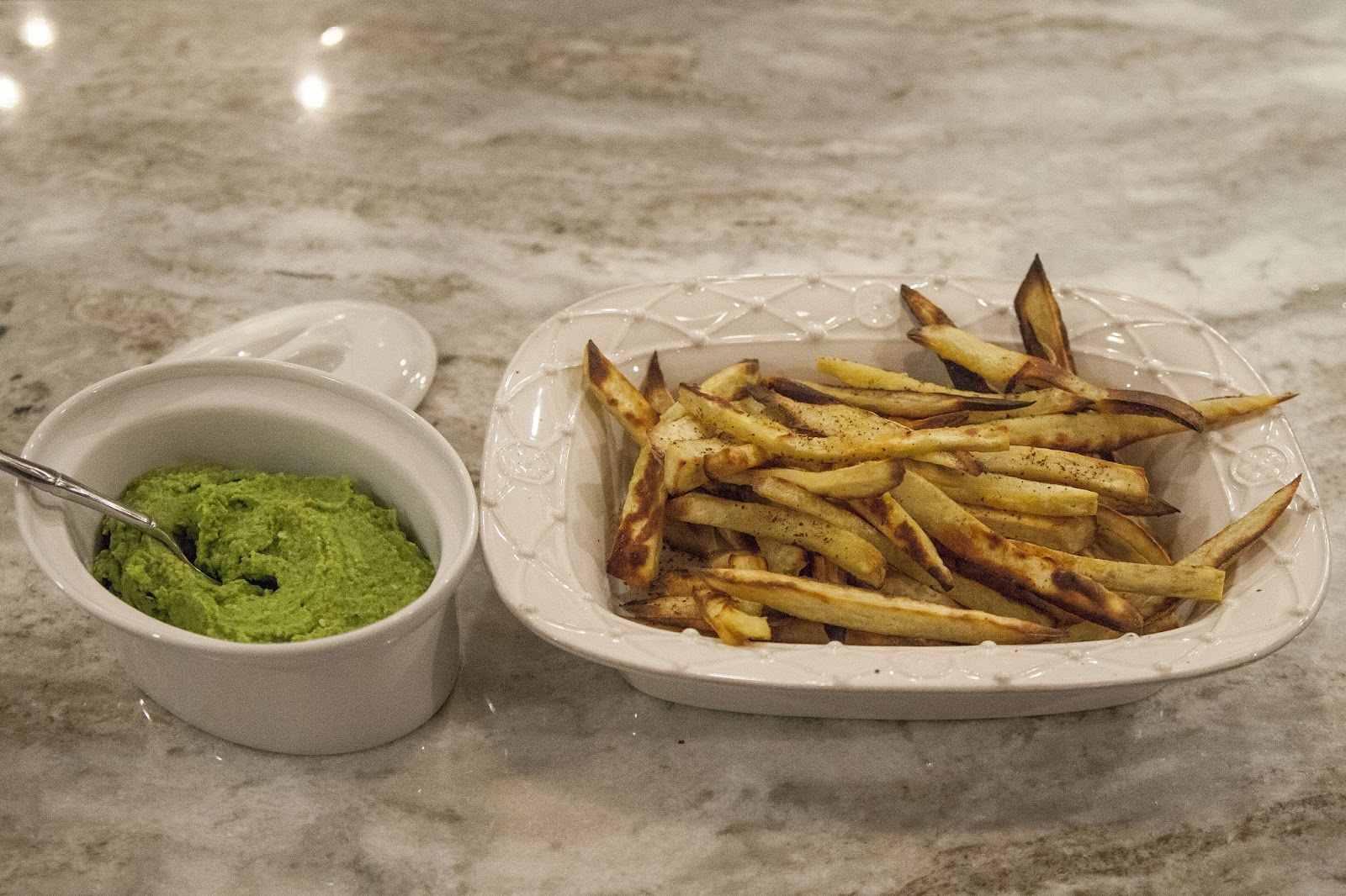 ... Sweet Potato Sumac Fries With Chickpea and Spinach Hummus Dip, Perfect