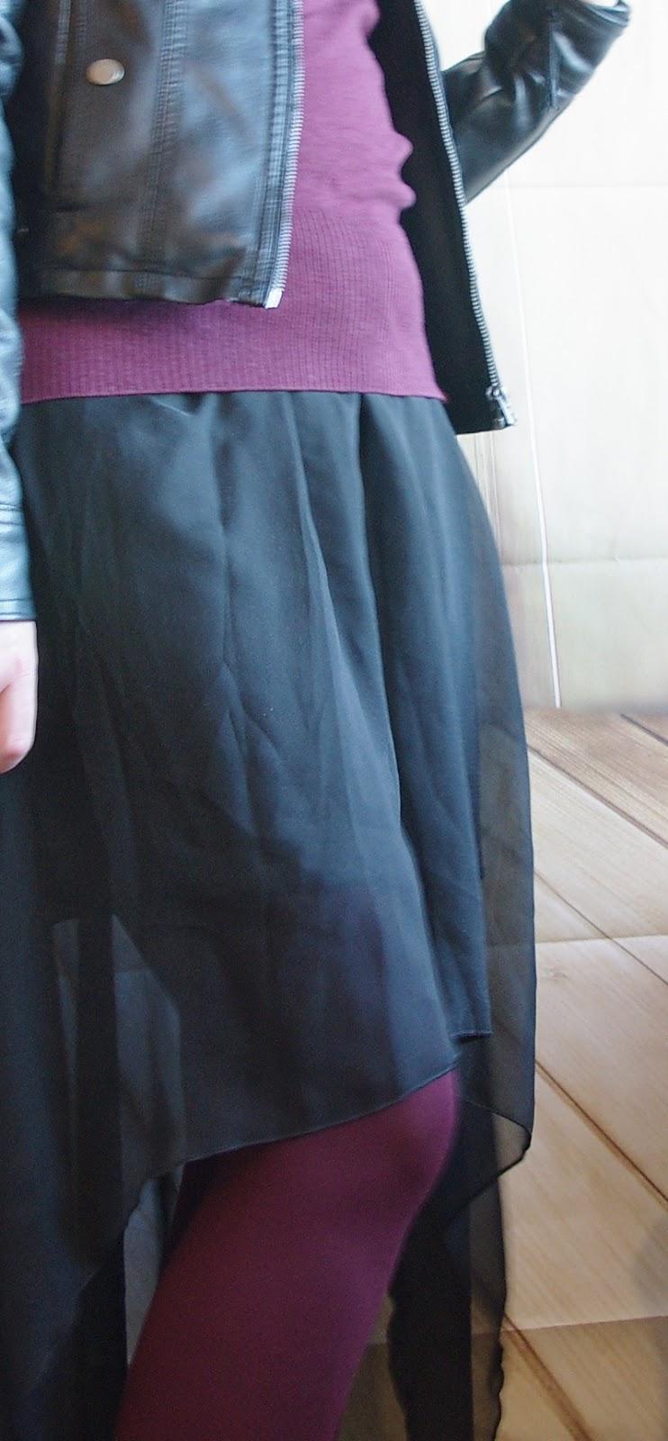 Lucciola [Outfit] Vokuhila-Rock Farbige Strumpfhose Und ...