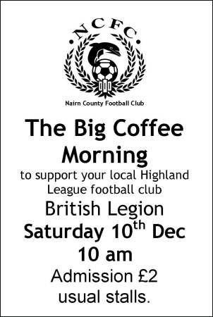 The Big Coffee Morning Sat 10th Dec