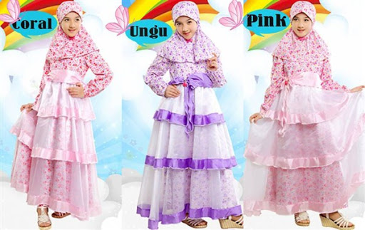 Model Baju Muslim Anak Perempuan Terbaru 2017 dan 2018