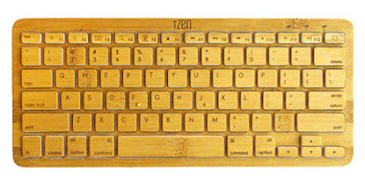 iZen, teclado Bluetooth hecho de bambú