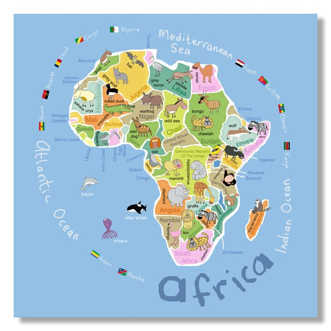 Itss A Jungle In Here Kids Map Of Africa Finished - Map of africa for kids