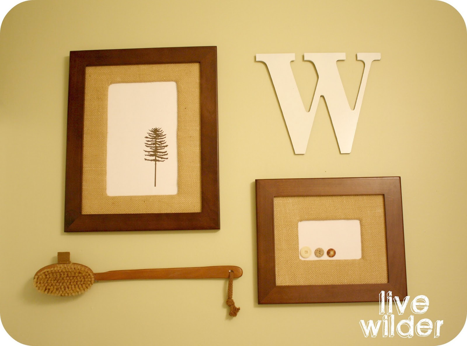 live a little wilder: burlap frame {tutorial}
