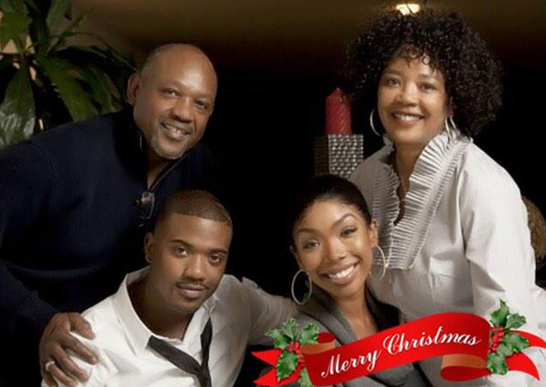 Ray J and Brandy Norwood on Christmas day
