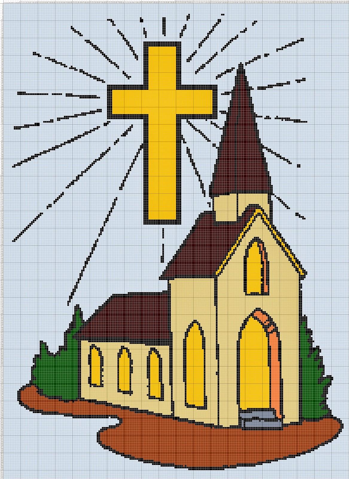 Gambar Pola Kristik Gedung Gereja