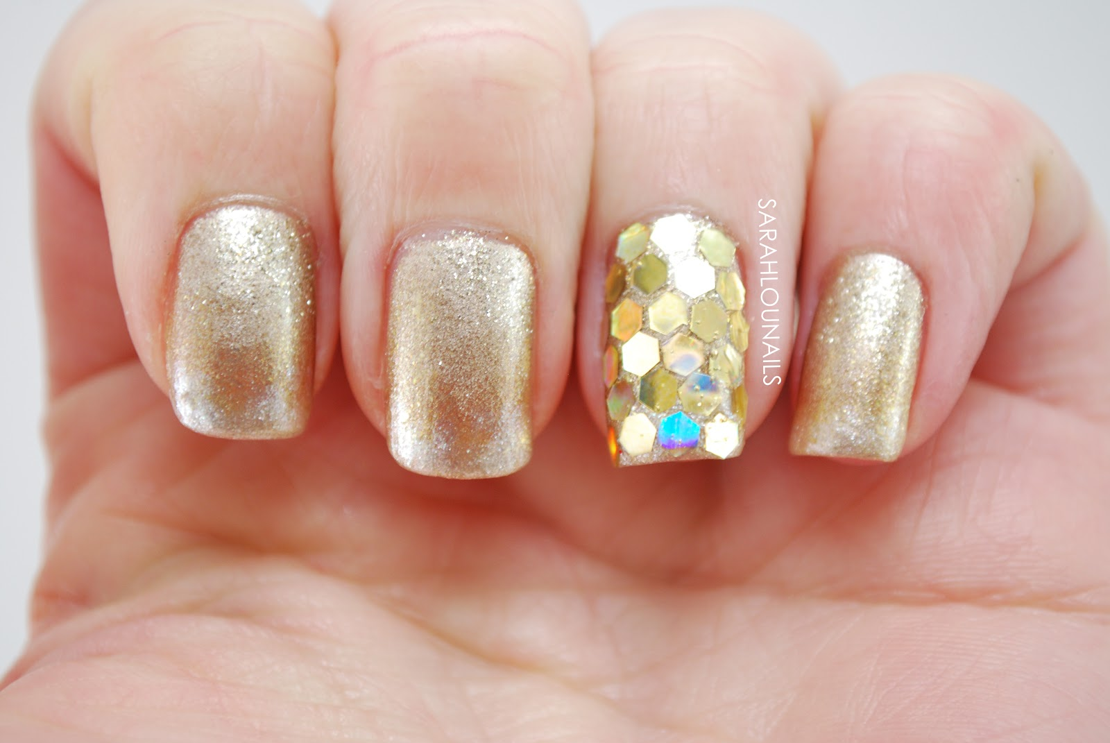 Sarah Lou Nails: New Years Eve Champagne Nails!