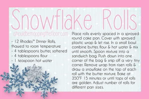 I Should Be Mopping The Floor Snowflake Rolls