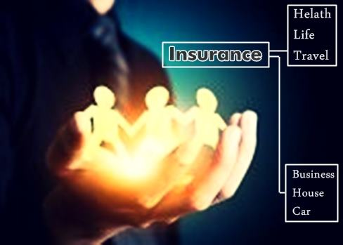 Image Online insurance concept on Life and future