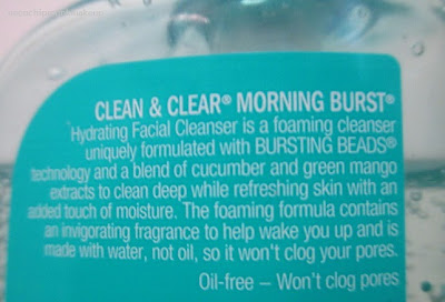 Clean and clear morning burst ingredients