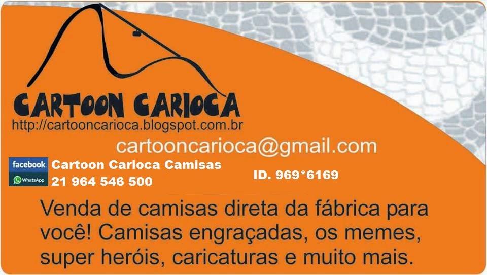 Cartoon Carioca - Camisetas engraçadas, memes, quadrinhos, heróis.