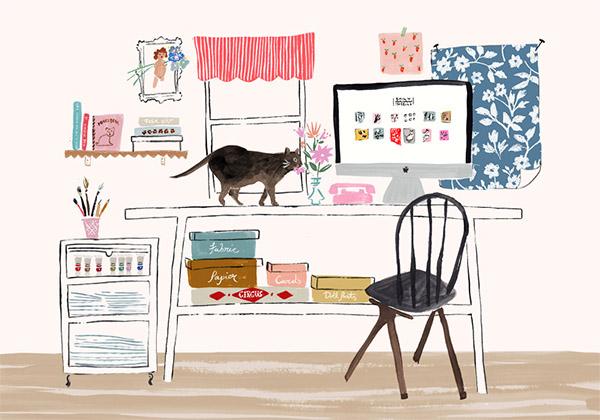 Artist Spotlight Illustrator Emily Isabella Interiors By Jacquin